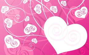 Wallpaper background, pink, heart