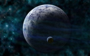 Picture Green, planet, small planet, SCi FI, dark cold