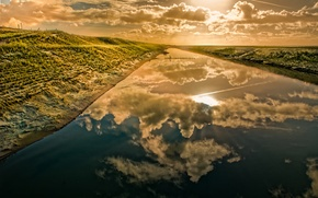 Wallpaper clouds, water, beautiful, reflection, landscape