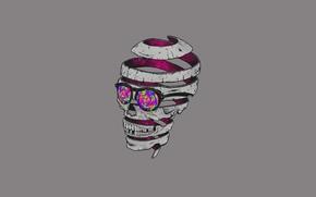 Wallpaper Glasses, Minimalism, Skull