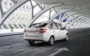 Picture grey, car, Lada, premiere, hatchback, Lada, Granta, Grant, Vaz, AVTOVAZ, best seller, 2191, liftback