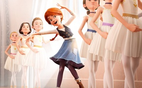 Picture cinema, red, girl, red hair, dress, movie, redhead, film, animated film, red head, animated movie, …