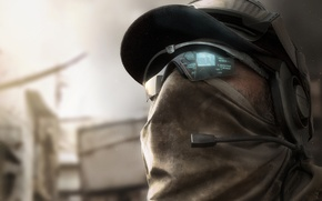 Picture headphones, glasses, soldiers, cap, hologram, squad Ghost, Ghost Recon: Future Soldier, Tom Clancy's