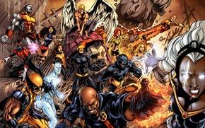 Wallpaper wolverine, marvel, comic, angel, super heroes, comics, x men, jean grey, Nightcrawler, colossus, shtorm, cyclops, ...