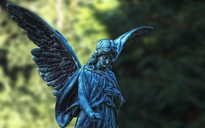 Picture wings, angel, statue