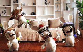 Wallpaper rabbit, raving rabbids, rabbids, rabies