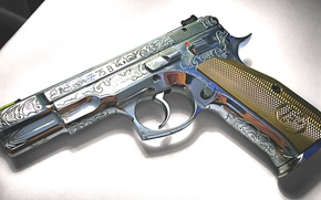 Picture gun, weapons, self-loading, CZ-75B