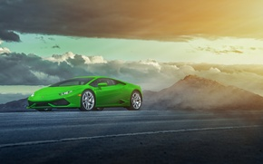 Picture green, Lamborghini, LP 610-4, Huracan, LB724