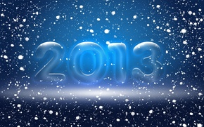 Picture snow, blue, new year, 2012, 2013, 2014