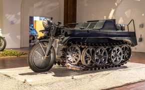 Picture Kettenkrad HK 101, SdKfz 2, half-track motorcycle, Germany, The second world war, exhibit, Museum