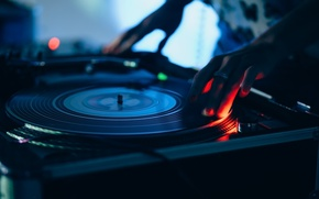 Wallpaper club, blur, turntables, remote, vinyl, record, tool, party, mixer, DJ, music, bokeh, closeup, wallpaper., musical ...
