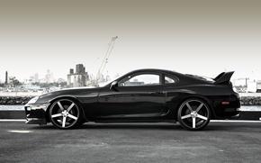 Picture supra, black, toyota, Toyota, supra