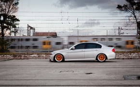 Picture tuning, BMW, BMW, profile, grey, tuning, E90, The 3 series, 320d