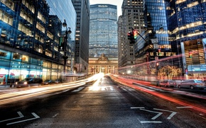 Picture road, machine, building, New York, skyscrapers, excerpt, USA, USA, Manhattan, NYC, Grand Central Terminal, New …