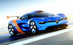 Picture Concept, Machine, The concept, Blue, Desktop, Renault, Car, Car, Reno, Beautiful, Wallpapers, Wallpaper, Alpine, A110-50, …