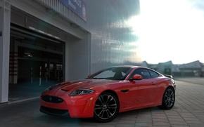 Picture Jaguar, Red, Coupe, XKR-S