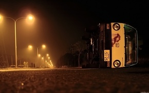 Picture road, auto, night, street, lights, Situation, roadside, ovaria