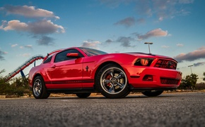 Picture Mustang, Ford, Red, The, Kid, Wheels, Chromium