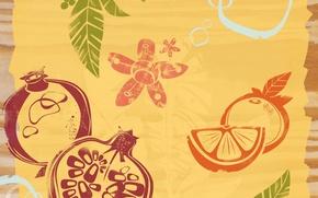 Wallpaper fruit, background