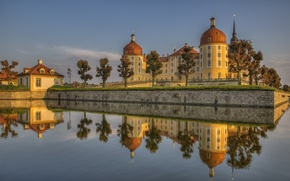 Picture water, reflection, castle, Germany, Germany, Saxony, Moritzburg, Saxony, Moritzburg Castle, Moritzburg Castle, Moritzburg