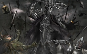 Picture army, the Lord of the rings, ring, art, battle, Mace, armor, the lord of the ...