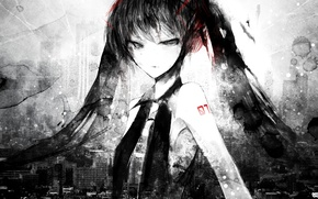 Picture girl, Art, Vocaloid, Vocaloid, Miku hatsune