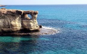 Picture sea, summer, coast, rock, sea, coast, Cyprus, Cyprus, blue lagoon, Ayia NAPA, sea caves, Agia-Napa, …