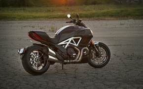 Picture Ducati, Carbon, muscle, power, cruiser, Diavel, musclebike