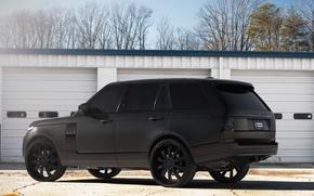 Picture profile, Blik, land rover, range rover, range Rover, land Rover, black rims, matte black, black …