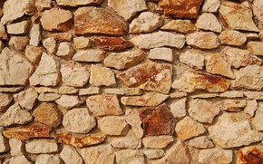 Picture wall, Red, yellow, pattern, blocks of stone