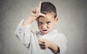 Picture emotions, boy, child, gestures