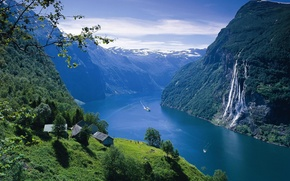 Picture landscape, Norway, the fjord
