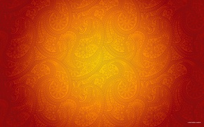 Wallpaper pattern, orange, dezinelabs