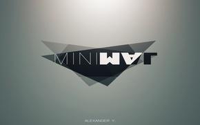 Picture minimalism, logo, minimal, wall, logo, yaromich
