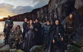 Wallpaper game of thrones, Sophie Turner, Kit Harington, Rose Leslie, Maisie Williams, game of thones, Isaac ...