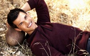 Picture smile, actor, Taylor Lautner, teylor lautner