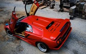 Picture red, Lamborghini, red, Diablo, Lamborghini, Diablo