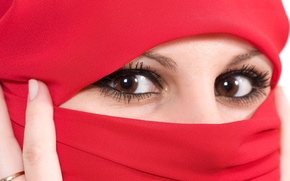 Wallpaper eyes, look, face, shawl