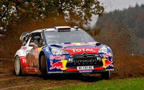 Picture rally, rally, Loeb, wrc, citroen, ds3, Wales, GB Wales