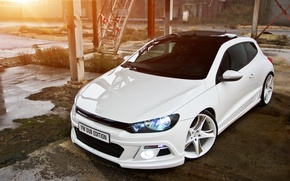 Picture white, tuning, Volkswagen, Scirocco, Dub Edition tuned