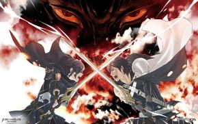 Picture weapons, sword, anime, art, guys, the battle, fire emblem, the Cossacks yusuke, chrom, marth