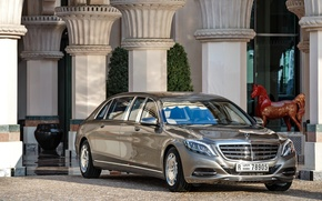 Picture fountain, Mercedes, Maybach, limousine, Pullman, S600, 2016