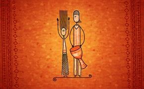 Picture music, pair, drum