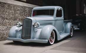 Picture retro, Chevrolet, classic, pickup, the front