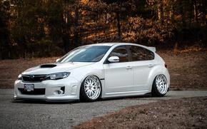 Picture white, subaru, impreza, Subaru, Impreza