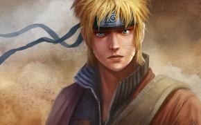 Picture look, the wind, headband, emblem, guy, Naruto, Naruto, art, naruto Uzumaki, dantecyberman