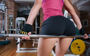 Picture girl, style, shorts, figure, Grif, rod, the gym