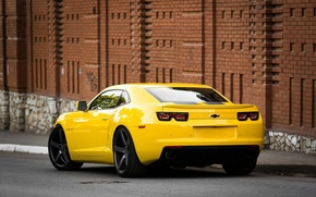 Picture Road, Yellow, Chevrolet, Strip, Wheel, Ass, Muscle, Light, Camaro, Lights, Car, Yellow, View, Road, Kar, …