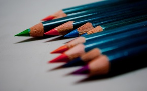Picture color, pencils, drawings