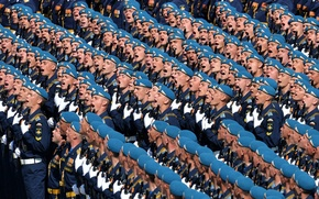 Picture the city, holiday, victory day, Moscow, troops, red square, Airborne, cheers